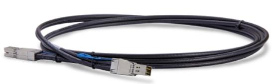 GigaIO FabreX использует кабели SFF-8644 (до трёх метро по меди, до 100 метров по оптике)