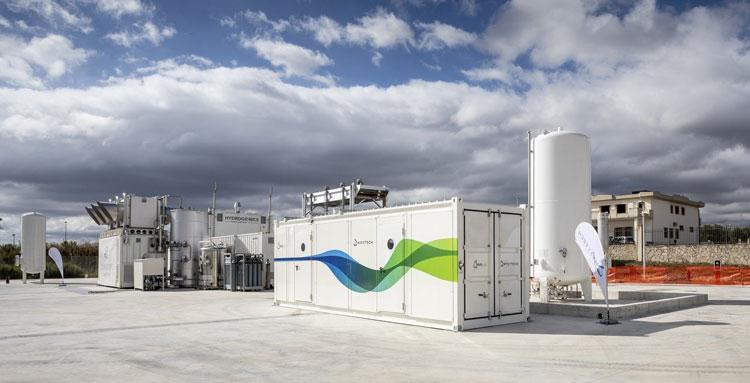 Установка по получению метана из углекислого газа из окружающего воздуха