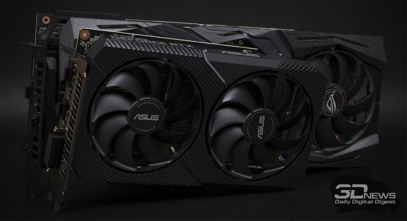 ASUS Dual GeForce RTX 2070 MINI в сравнении с ASUS ROG STRIX GeForce RTX 2080 Ti