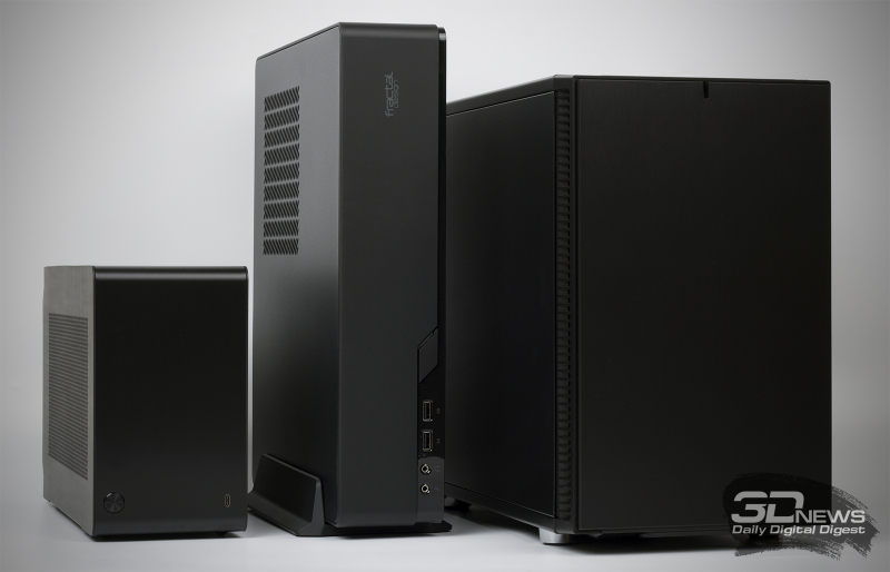 Слева направо: DAN A4-SFX, Fractal Design Node 202, Fractal Design Define Nano S