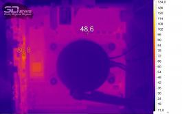 Нагрев ASUS ROG STRIX B450-I GAMING (нагрузка — игры)