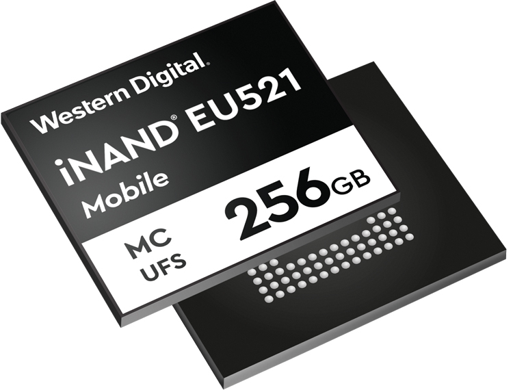 Версия однокорпусных флеш-накопителей Western Digital с интерфейсом UFS 3.1