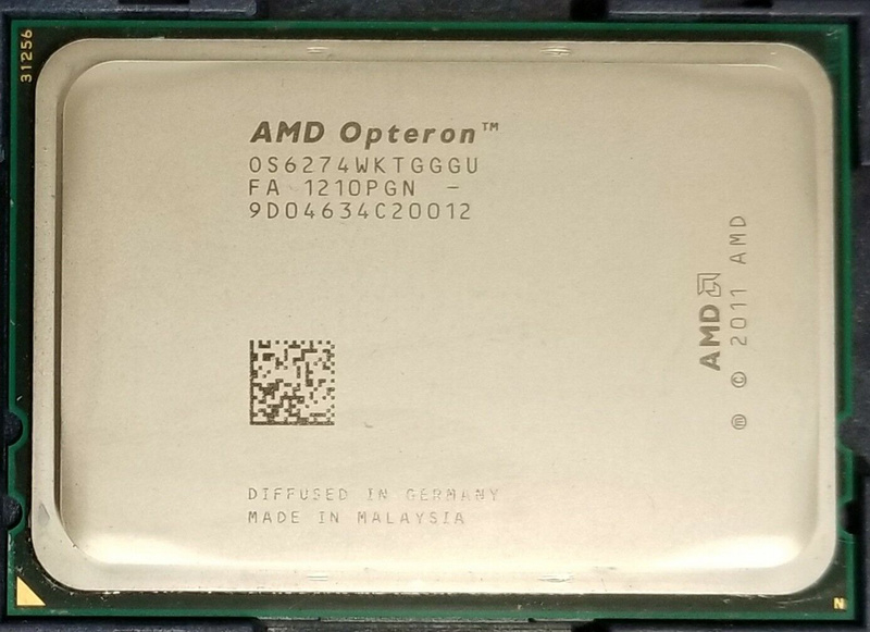 AMD Opteron 6274: 16 ядер Bulldozer/Interlagos, 2,2 ГГц, 115 Ватт TDP