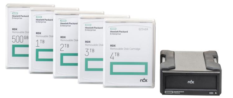 HPE RDX Removable Disk System: для резервного копирования ценных данных