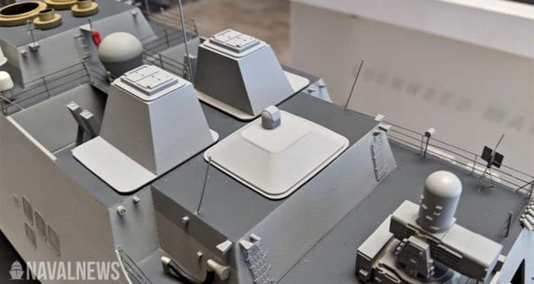 Лазерные модули многоуровневой лазерной защиты (LLD) на модели крупным планом
