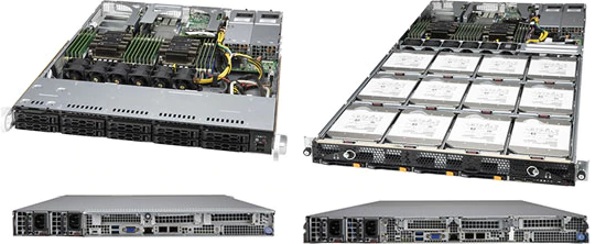 SSG-1129P-ACR10N4L (слева) и SSG-6119P-ACR12N4L