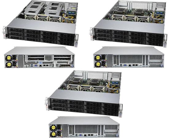 SSG-6129P-ACR12N4G, SSG-6129P-ACR12N4L и SSG-6129P-ACR12N4L+ (внизу)
