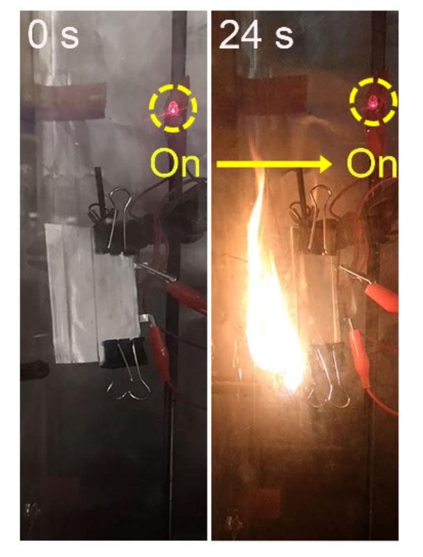 В Стэнфорде сделали литиево-ионную батарею, которая работает даже в огне