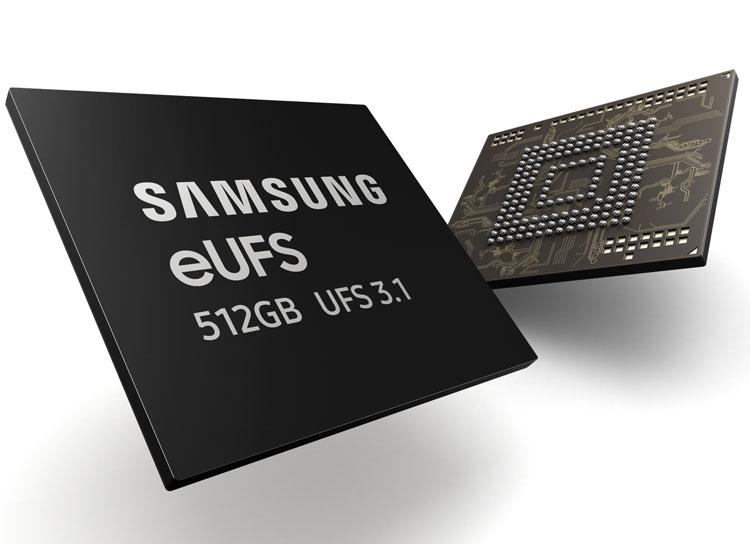 Samsung приступила к производству наибыстрейших eUFS-накопителей для смартфонов