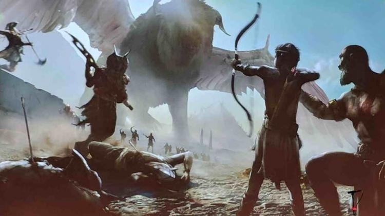 Официальный концепт-арт египетской версии God of War, показанный на конференции DevCon 2018