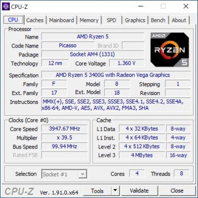 Ryzen 5 3400G
