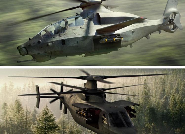 Верхнее изображение это проект Bell, а нижнее проект Sikorsky