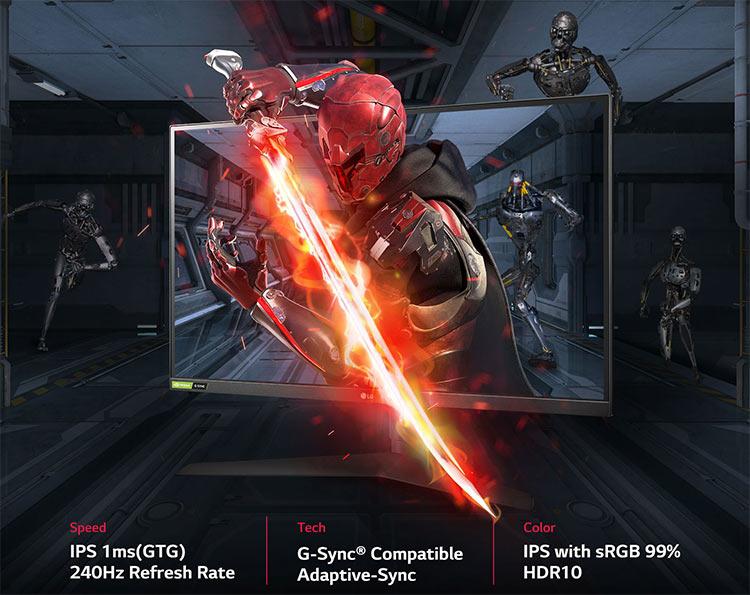 LG начала продажи игрового монитора 27GN750: 27 дюймов, 240 Гц, 1-мс IPS и стоимость $400 - 3DNews