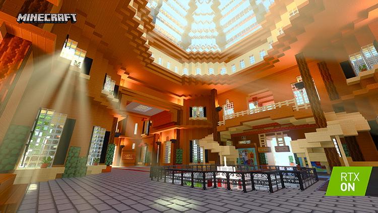 Imagination Island RTX от BlockWorks. Тематический парк с несколькими пасхалками. Имеет четыре отдельные локации, каждая из которых посвящена одному из элементов трассировки лучей в реальном времени