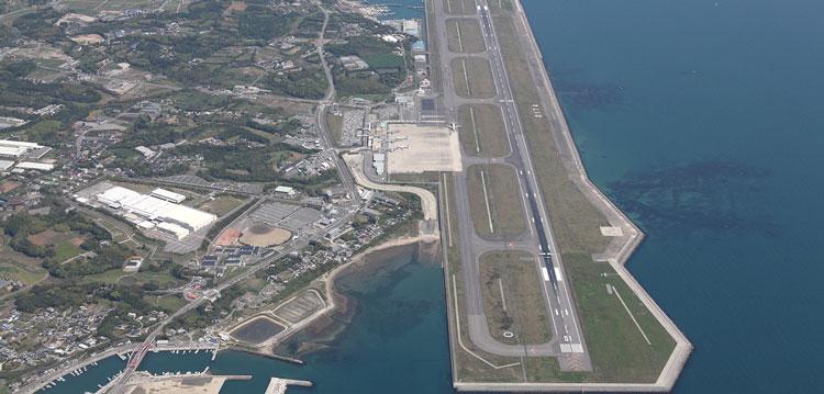 Аэропорт в городе Оита (Япония)