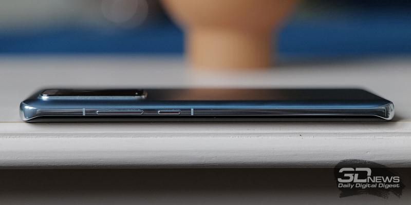 Huawei P40 Pro, правая грань: клавиши включения/блокировки смартфона и регулировки громкости