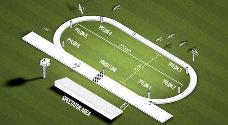 Примерная трасса соревнований Air Race E