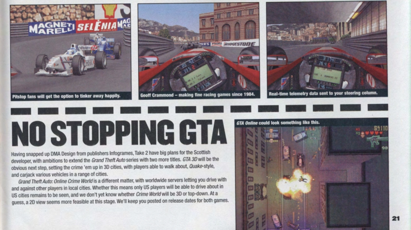 Заметка о GTA: Online Crime World в PC Zone (№ 83, декабрь 1999 г.)