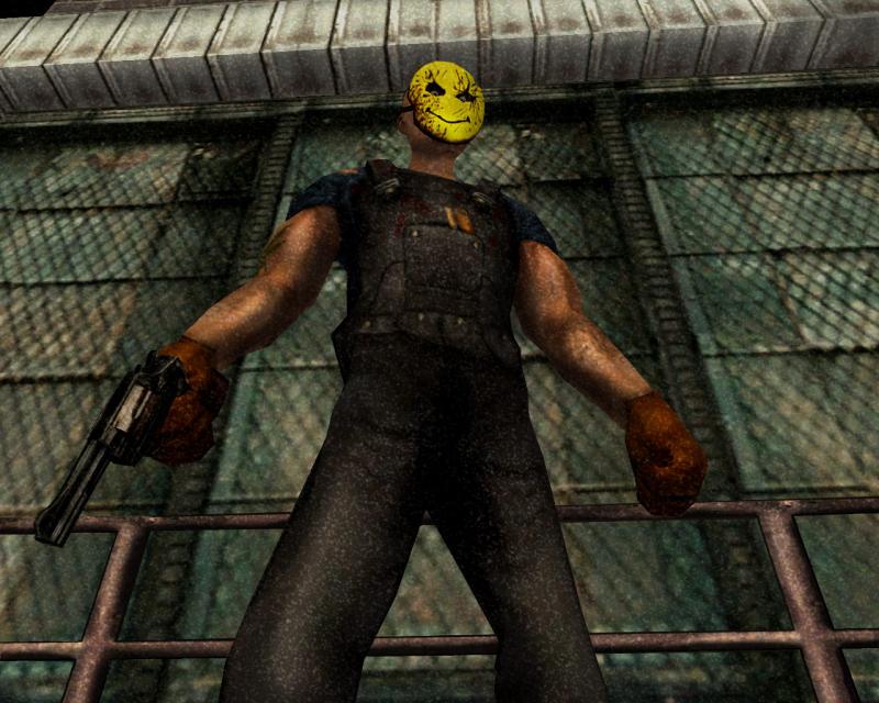 Вообще Manhunt — серая игра от первой до последней минуты, но даже в Carcer City встречаются яркие краски, свойственные R*