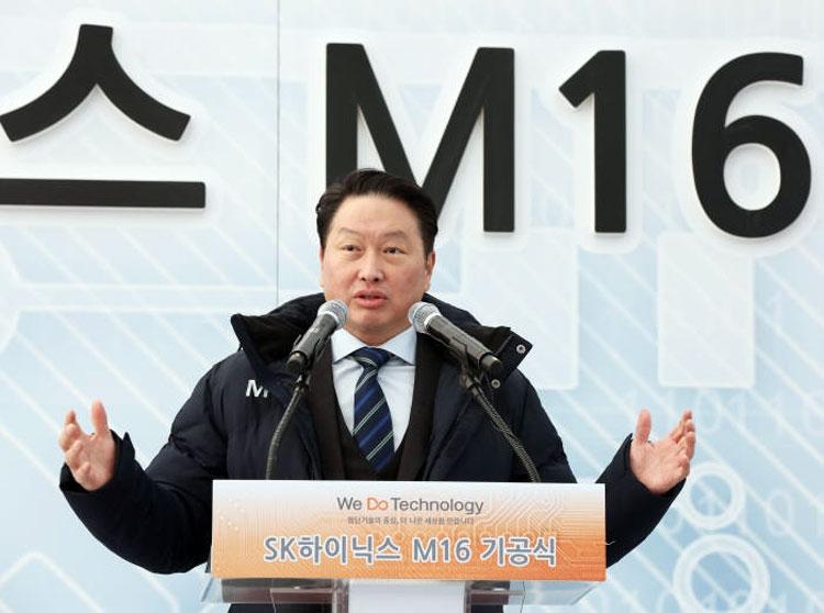 Глава SK Grup Чей Тэ Вон объявляет о начале строительства завода M16 (декабрь 2018 года)