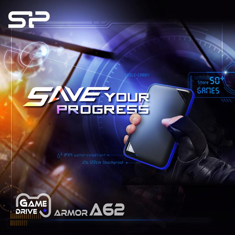 Портативные жёсткие диски Silicon Power A62 адресованы любителям игр