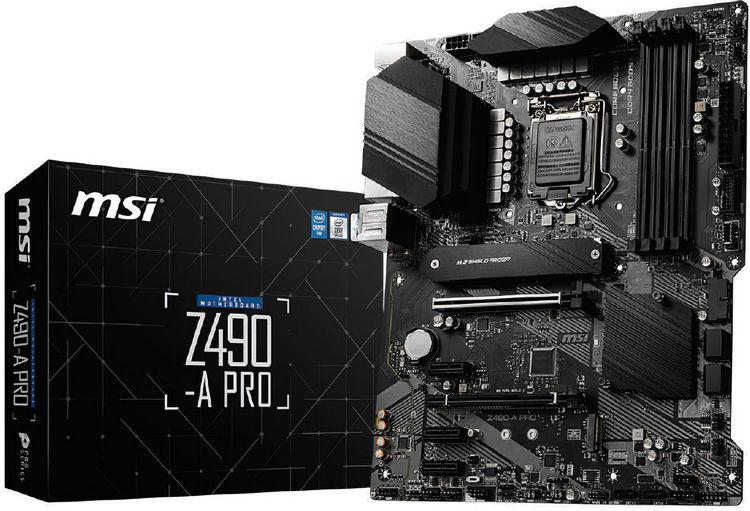 Изображение материнской платы MSI на чипсете Intel Z490
