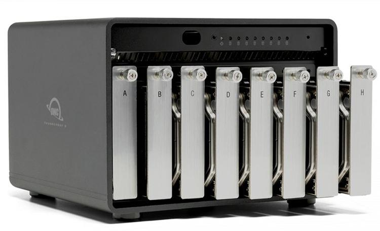 Внешнее хранилище OWC ThunderBay 8 с портом Thunderbolt 3 вмещает до 128 Тбайт