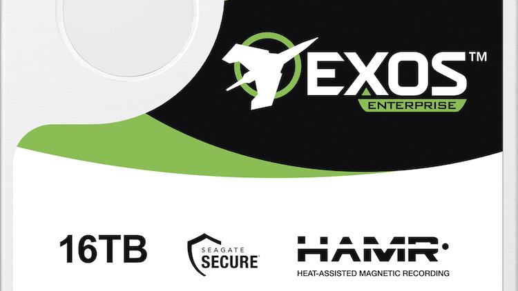 Экспериментальный жётский диск Exos X16 с технологией HAMR
