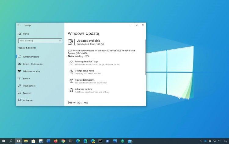 Microsoft заметила жалобы пользователей на обновление KB4549951