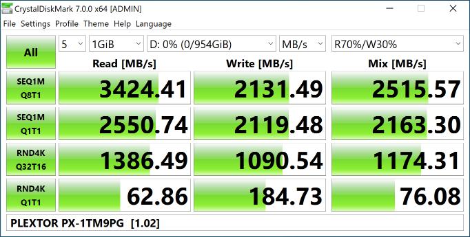 Plextor M9P Plus 1024 Гбайт