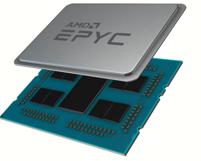 Рисунок 2. Корпус AMD EPYC серии 7002 (Источник: AMD).