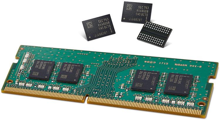Модуль и микросхемы памяти Samsung Electronics