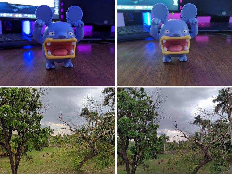 Фото снятые на Pixel 4A — слева