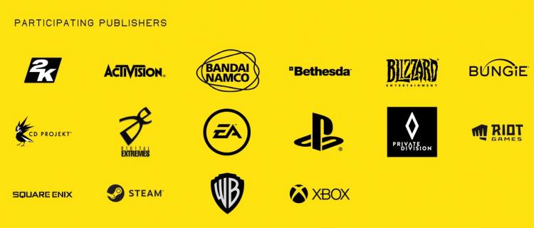 Список партнёров Summer Game Fest 2020