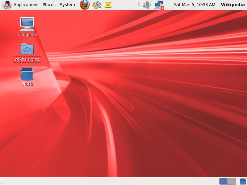 Классический рабочий стол Oracle Linux