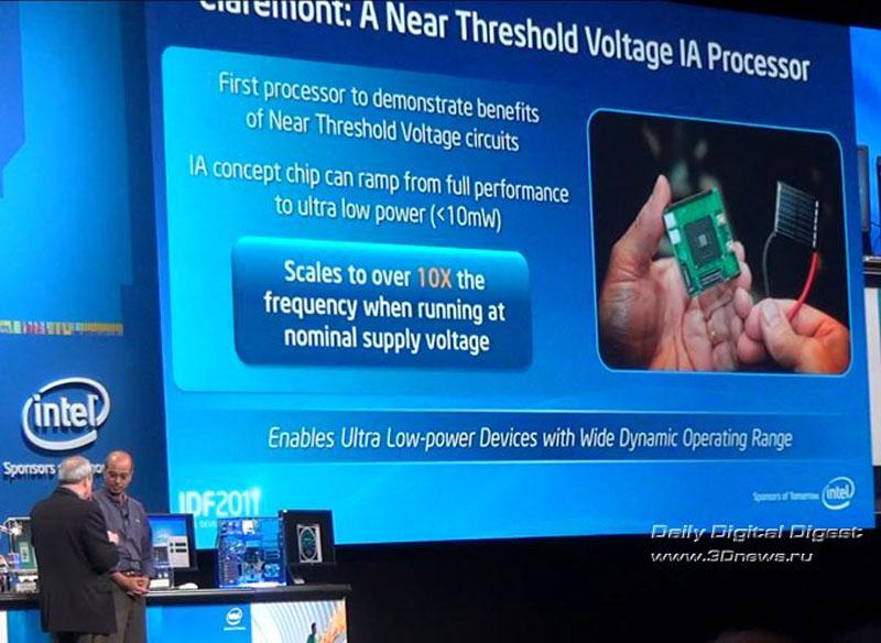 Из доклада Intel на осенней сессии IDF 2011