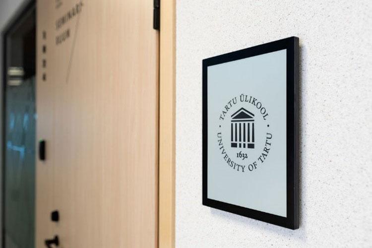 В новом центре Тартуского университета расписание лекций разместят на панелях E Ink