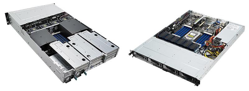 ASUS RS720-E9-RS8 (справа) и RS500A-E10-PS4