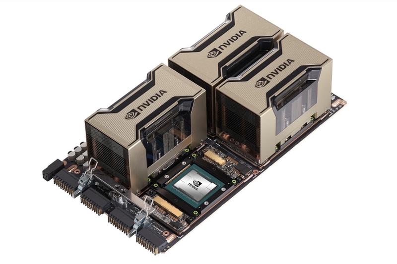 Базовая плата NVIDIA HGX A100, версия с четырьмя ускорителями