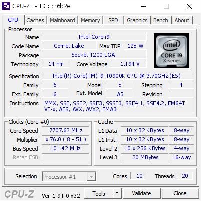 Источник изображения: CPU-Z, Elmor