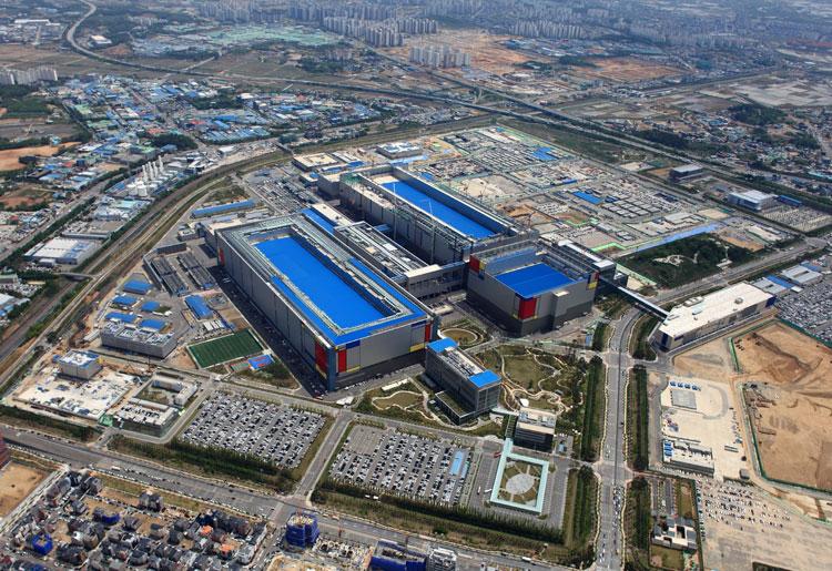 Производственный комплекс Samsung в Пхёнтэк (Южная Корея)