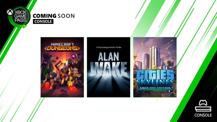 Новое в Xbox Game Pass: Alan Wake, Cities: Skylines, Minecraft Dungeons и Plebby Quest: The Crusades