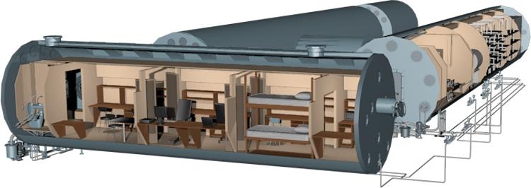Конфигурация комплекса для имитайии длительного полёта в космос в эксперименте «Сириус»