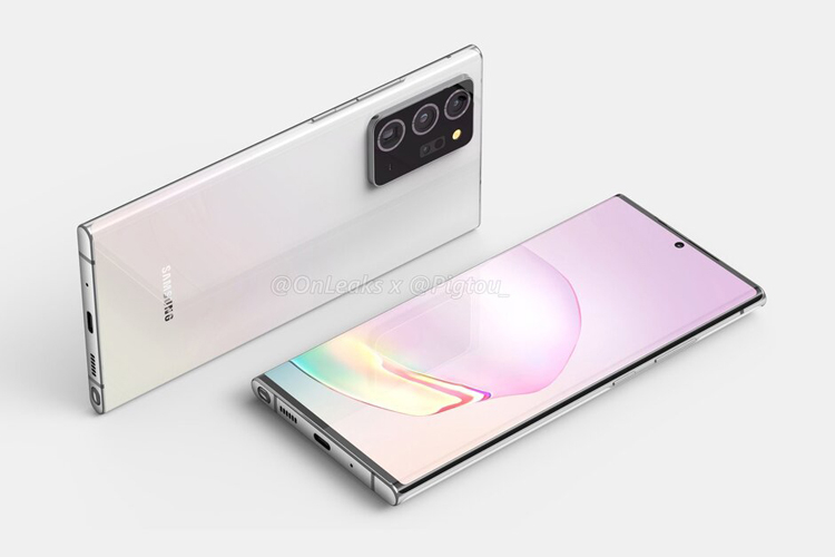 Смартфон Samsung Galaxy Note 20 Plus показался на рендерах