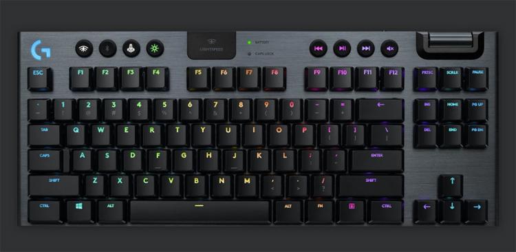 Представлена беспроводная механическая клавиатура Logitech G915 TKL