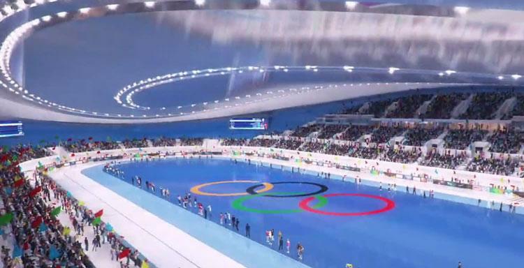 Один из Олимпийских ледовых катков в Китае