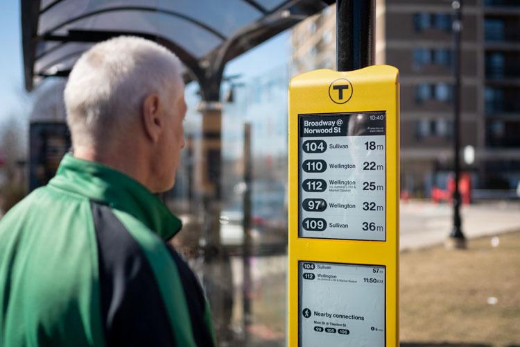 Информационные дисплеи E Ink появятся на автобусных остановках в Бостоне
