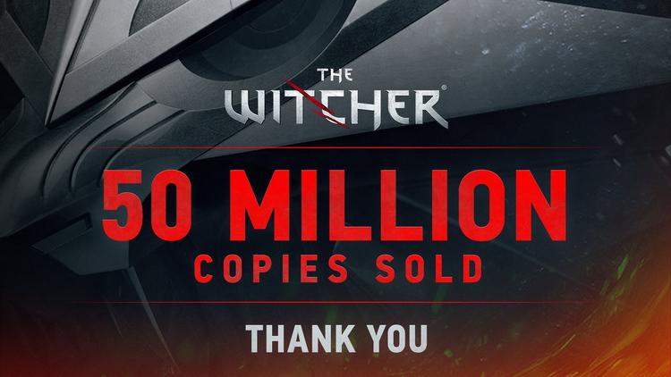 Продажи серии видеоигр The Witcher достигли 50 миллионов копий