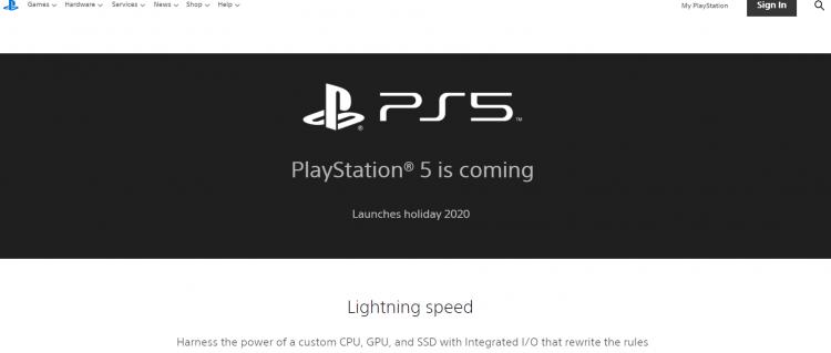 Архивная версия страницы PS5