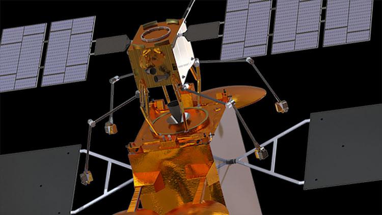 Сервисный спутник Astroscale в представлении художника